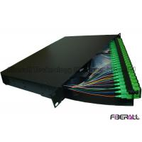 Wholesale Rotate Type 48 Port Fiber Optic Patch Panel With SC APC Fiber Optic Pigtail from china suppliers