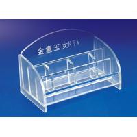 Wholesale 5mm Clear Simple Acrylic Stationery Holder For Office With Notes Box from china suppliers