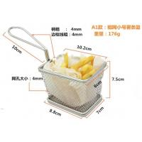 Wholesale Deep Fryer Wire Mesh Fry Basket Round / Rectangular / Square With Long Handle from china suppliers