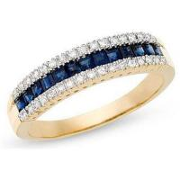 Wholesale Sapphire and Diamond 14K Yellow Gold Ring from china suppliers