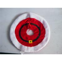 Wholesale Diameter traditional red handmade high quality christmas tree skirt from china suppliers