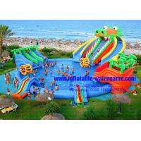 Wholesale Giant Dragon Water Slide Inflatable Water Park With Commercial Swimming Pool from china suppliers