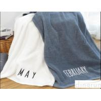 Wholesale Large Terry Plain Colored 550 Gsm Cotton Bath Towels For Adults , Creative Month Design from china suppliers