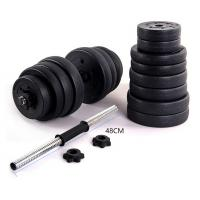 Wholesale full weight export quality  black cement dumbbell set for sales from china suppliers