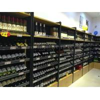 Wholesale Wine Display Rack Light Duty Shelving Wall Mounted 1200mm * 400mm * 2200mm from china suppliers