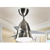 Wholesale Silver White 12W Modern LED Ceiling Fan Light Fixtures Indoor for Hotel from china suppliers