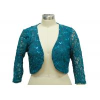 Wholesale 100% Polyester Lace Fabric Casual Ladies Wear Half Length Cardigan With Paillette from china suppliers