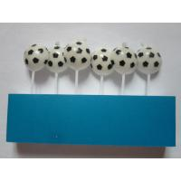 Wholesale Football / Soccer Pick Happy Birthday Candles 20.4 G White And Black Printing Wax from china suppliers