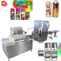 Wholesale Automatic 450ml Aerosol Can Filling Machine For Colorful Car Rubber Paint from china suppliers
