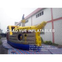 Wholesale Backyard Funny Inflatable Pirate Ship Moonwalk With UL 110V - 120V Air Blower from china suppliers