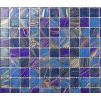 Buy cheap LAR047 Foshan supply glass mosaic Colorful square swimming pool mosaic from wholesalers