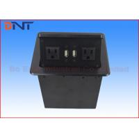 Wholesale Desktop Pop Up Socket Box With USB Charger , Pop Up US Standard Plug from china suppliers