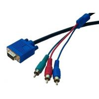 Wholesale HDTV Component Video Monitor VGA Cable , VGA Cable to 3RCA Cable from china suppliers