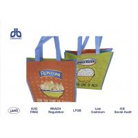 Wholesale Press Button Non Woven Polypropylene Bags , Custom Printed Shopping Bags For Supermarket from china suppliers