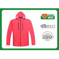 Wholesale Womens Outdoor Jackets Windbreak , Ladies Outdoor Clothing Pink from china suppliers