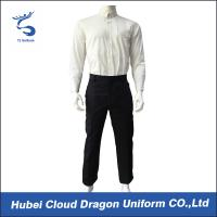 Wholesale White Poplin Security Guard Uniform Shirts , Men Law Enforcement Clothing Breathble from china suppliers