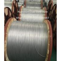 Wholesale Bare Aluminium Clad Steel Wire For Electric Transmission With Round Wire Material Shaped from china suppliers
