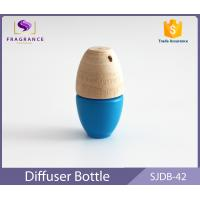 Wholesale Customized Mini 5ml Fragrance Car Diffuser Bottle Blue With Wood Cap from china suppliers