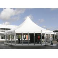 Wholesale Hexagon Clear Span Pagoda Canopy Party Tent , Clear Span Steel Buildings from china suppliers