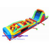 Wholesale 0.8mm PVC 65FT Inflatable Obstacle Course Rental Challenge With CE Blower from china suppliers