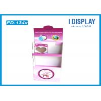 Wholesale Pink Foldable Trade Show Cardboard Pop Up Displays With 2 Tiers from china suppliers