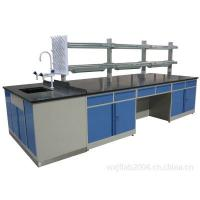 Wholesale Economical steel Wood Lab Island Bench / Lab Center Bench With Aluminum alloy handle from china suppliers