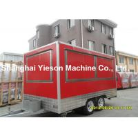 Wholesale Customize Red Kitchen Cooking Fast Food Kiosk Car With Braking System from china suppliers