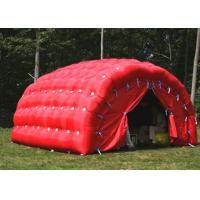 Wholesale Red outdoor tent , Giant Garge Inflatable Tent For Car With PVC Material from china suppliers