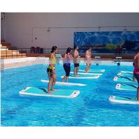Wholesale PVC inflatable air Yoga mat in all colors  used on the water or on the ground from china suppliers
