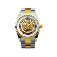Wholesale Stainless Steel Automatic Mechanical Watch Skeleton Dial , Men S Watch from china suppliers
