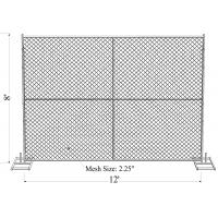 "Wholesale 8' x 12' ""Great Wall Plus"" temporary chain link fence panels Pipe 1.625"" tube x 15ga wall thick mesh 2-2/5""(60mm x 60mm from china suppliers"