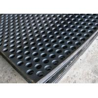 Wholesale 2mm Thick Perforated Steel Mesh , 41 % Open Rating Black Perforated Iron Sheet from china suppliers