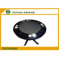 Wholesale Classical Four People Round Wooden Poker Table Double Cup Holder from china suppliers