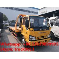 Wholesale Japan brand ISUZU 4*2 LHD 4tons wrecker truck for sale, best price factory sale ISUZU traffic flatbed breakdown truck from china suppliers