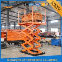 Wholesale 1T Stationary Scissor Lift Hydraulic Lifting Table Indoor / Outdoor Scissor Cargo Lift Table from china suppliers