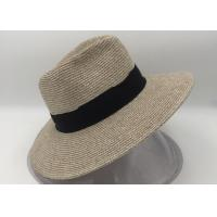 Wholesale Wide Brim Straw Panama Hat Fedora Foldable Beach Sun Hat/summer straw hat from china suppliers