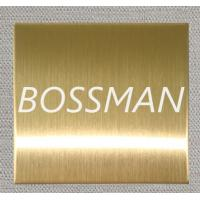 Quality 304 Titanium Gold Brushed Finished Stainless Steel Plate for sale