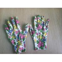 Wholesale OEM XXL Safety 13G Knitted Seamless Color Ployester Children Pretty Gardening Gloves from china suppliers