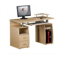 Wholesale White Exquisite Wood Office Desks 15mm PB / MDF Panel With Hutch DX-8514 from china suppliers