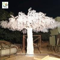 Buy cheap UVG 5.5 metres high huge white silk banyan artificial tree sale for window display GRE064 from wholesalers