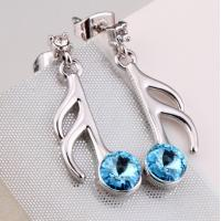 Wholesale Ref No.:406008 Thorn Flower Earring december birthstone blue zircon art jewelry from china suppliers