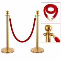 Wholesale Foodservice 54743 Tulip Top Metal Stanchion Posts With Red Velvet Rope from china suppliers