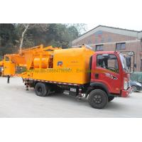 Wholesale 300L Oil Tank Cement Pumping Machine , Truck Mounted Concrete Pump With Batcher from china suppliers