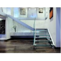 Quality Strong Glass Staircase Aluminum Base Shoe Railing for sale