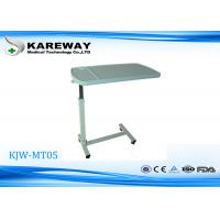 Wholesale Wearable White ABS Mobile Hospital Tray Table With Liftable And Lowerable Height KJW-MT05 from china suppliers