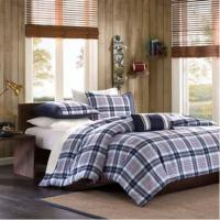 Wholesale Bedding Quilt Cotton Patchwork Quilt / Luxury Hotel Bedding Sets , Purple from china suppliers