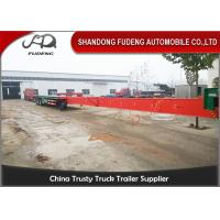 Wholesale Fudeng Customized Extendable Low Bed Trailer Long Construction Machine Transport from china suppliers