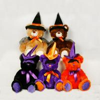 Wholesale Black and Orange Halloween Teddy Bear Stuffed Toys For Halloween Party from china suppliers