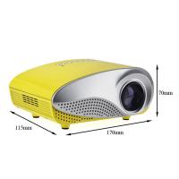Quality Computer DVD Phone Mini Digital Projectors HD Home Projectors 60 Lumens Yellow color for sale
