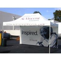 Wholesale 800D White Quick Set Up Folding Gazebo Tent 3 x 4.5 m With Silk Screen Printed from china suppliers